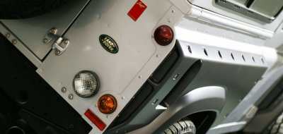 Land Rover Defender 2006 KAHN edition rear/side closeup