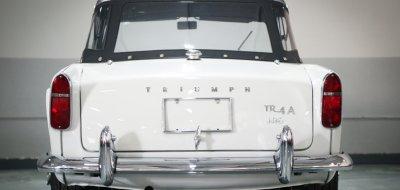 Triumph TR4 rear view