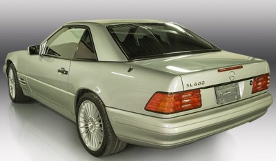 Mercedes Benz SL600 1998 rear left view