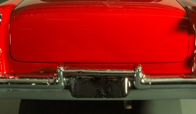 Oldsmobile 88 1956 rear closeup view