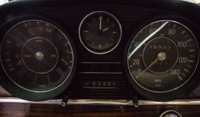 Gauges of the Mercedes Benz SEL300 1967