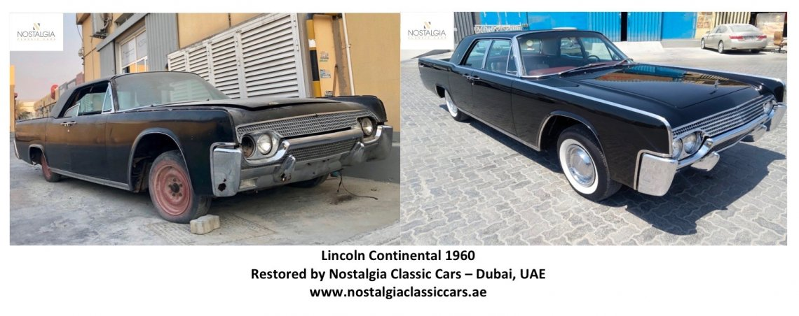 Lincoln Continental 1961 - before & after