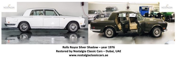 Restoration Project - Rolls Royce Silver Shadow 1976 - before & after